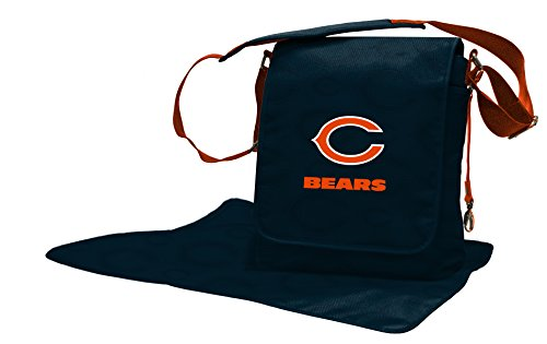 Wild Sports NFL Chicago Bears Messenger Diaper Bag, 13.25 x 12.25 x 5.75-Inch, Blue by Wild Sports