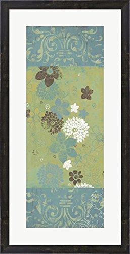 Spring Damask I by Bohemia Studios Framed Art Print Wall Picture, Espresso Brown Frame, 18 x 35 (Bohemia Walnut)