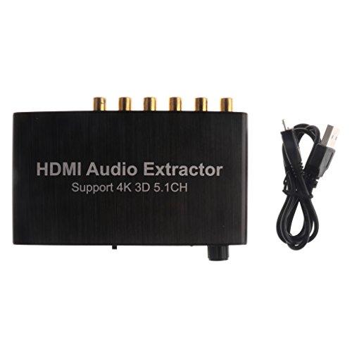 Jili Online 5.1CH Digital Audio Coaxial Decoder RCA DTS AC3/DST 5.1 Amplifier for DVD