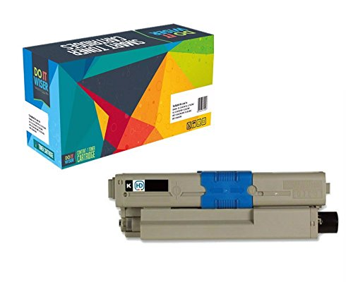 Do it Wiser Compatible Black Toner for Oki Okidata C310dn C310n C330 C330DN C331DN C510dn C531DN C530dn MC351dn MC361 MC361MFP MC362dn MC561 MC561dn MC562dn - 44469801 - Yield 3,500 Pages