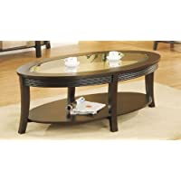 Poundex Coffee Table, Dark Espresso