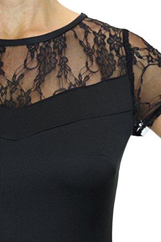 ICE 30101 Lace Top Stretch Bodycon Abend Kleid Schwarz dXkm3eBh ...