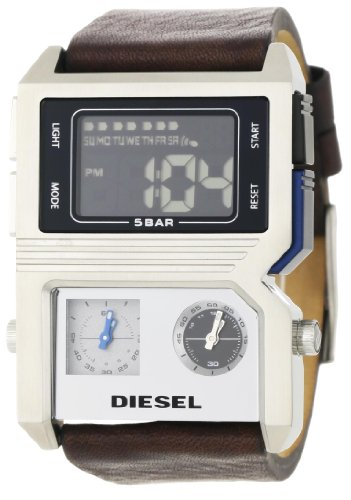 Diesel Men's DZ7174 Brown and Silver Advanced Analog-Digital Black Dial Watch