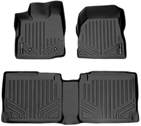 MAXLINER Floor Mats 2 Row Liner Set Black for 2010-2011 Chevrolet Equinox/GMC Terrain (Dual Front Floor Hooks)