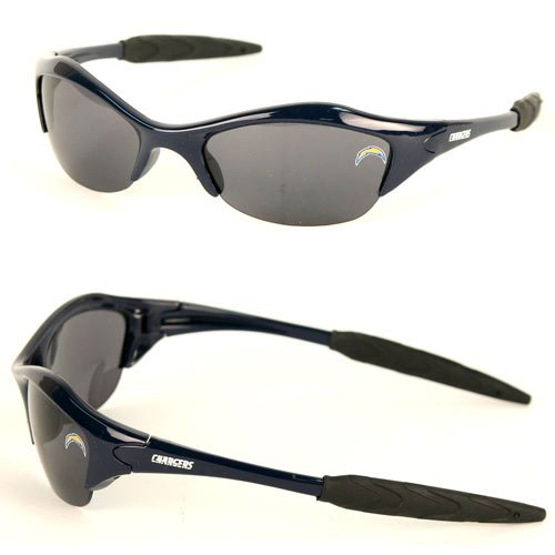 NFL Team Half Sports Blade Frame Sunglasses-UVA/UVB Protection (San Diego Chargers) (San Diego Chargers Vs Indianapolis Colts Live)