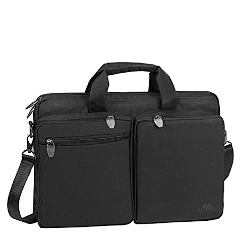 431147e8a856 Rivacase 8530 15.6-16 Inch Laptop and Tablet Bag Large Padded Waterproof  Fabric Black Color