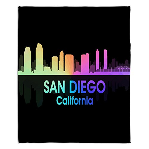 Diego Toddler Bedding - Dia Noche Fleece Blankets Soft Fuzzy 4 Sizes! by Angelina Vick City V San Diego California - Toddler 40