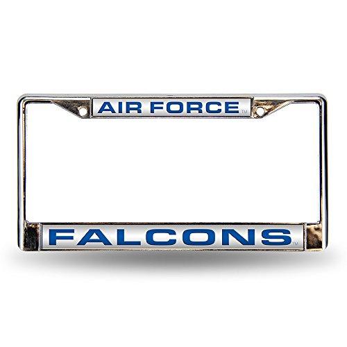 Air Force Laser Cut - NCAA Air Force Falcons Laser Cut Inlaid Standard Chrome License Plate Frame, Chrome