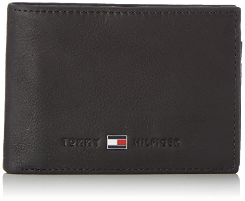 Hilfiger Black Cc Mini 002 Johnson Schwarz Wallets Pocket Tommy Black and Coin Flap Men's aZdfaw4xq