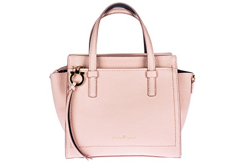 Salvatore Ferragamo borsa donna a mano shopping tote in pelle nuova amy rosa