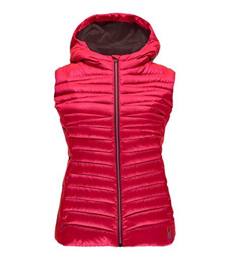 Timeless Down Vest - Spyder Women's Timeless Down Vest, Large, Bryte Pink/Weld
