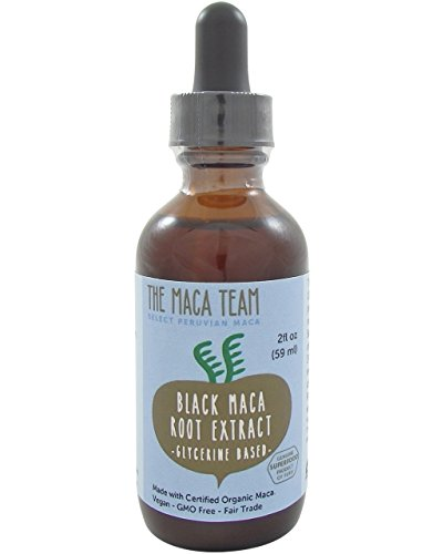 Black Maca Liquid Extract - Fair Trade, GMO Free, Alcohol Free, Vegan - Made From Organic Black Maca Roots Grown Traditionally in Peru – 2 Fl Oz - 59 Ml