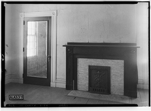 8 x 12 Photo 24. Historic American Buildings Survey Alex Bush, Photographer, January 25, 1935 Fireplace in Upper Bed Room (N.E.) - Cunningham Plantation, Old Memphis Road (Gaines Trace R 1895 80a by Vintography