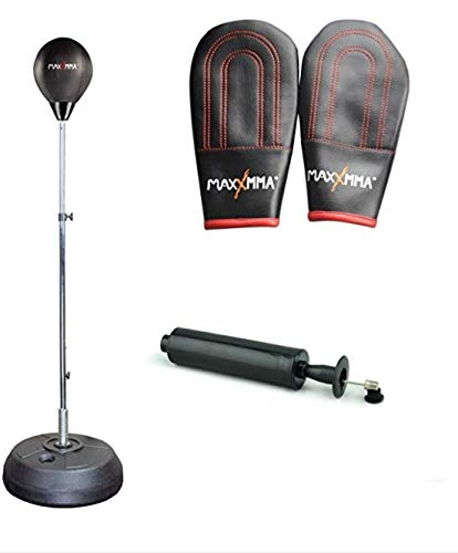 MaxxMMA Speed-Adjustable Freestanding Reflex Bag Kit