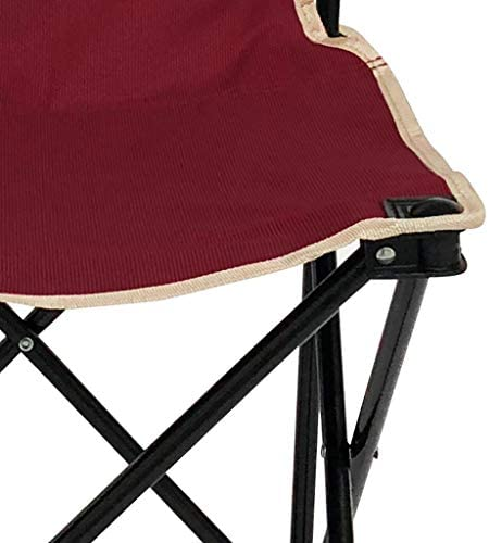 DYQTY Folding Camping Backpack Outdoor Folding Beach Chair, Fishing Chair, Armchair, Home Leisure Oxford Canvas Chair, Hollow Iron Tube, Size: 38 * 38 * 60cm, Load-bearing 264Ib