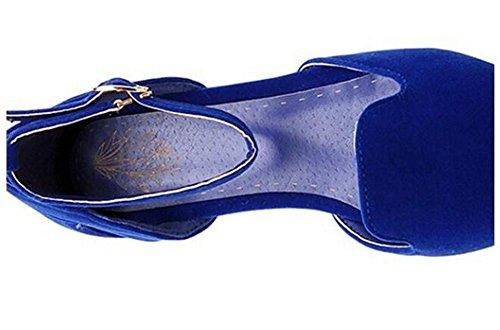 Gürtelschnalle Schuhe XIE 's Hollow Court Frauen Schuhe Süßigkeiten Farben YnqpABCxwq