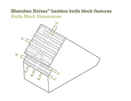 20 Slot Bamboo Universal Knife Block Without Knives. Knife Storage Organizer and Holder by Shenzhen Knives. by Shenzhen Knives (Image #6)