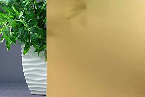 Amber Frosted, Decorative, Privacy, Static Cling Window Film (35''x 18ft) by Window Film and More