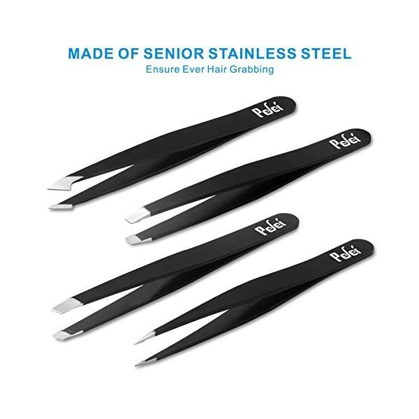 Tweezers Set - Professional Stainless Steel Tweezers, Best Precision Tweezers for Eyebrows - Great Precision for Facial…