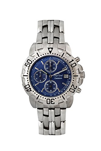 Oskar Emil Gents Caesium 1119G Steel Chronograph Sports Watch with Blue Dial