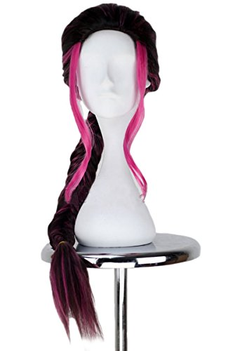 Blink X Men Costume (Xcoser Blink Cosplay Long Prestyled Braids Purple and Black Gradient Color Costume Party Wig)