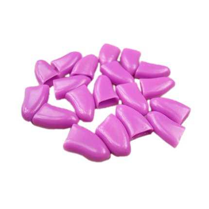 SODIAL Purple S, 20Pcs Dog Cat Pet Paw Claw Control Nail Sof