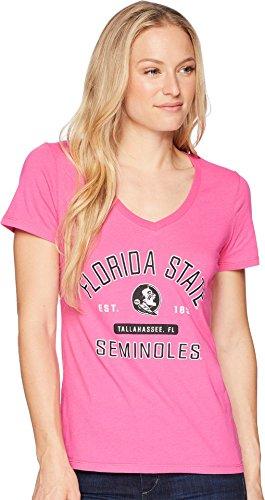Champion College Women's Florida State Seminoles University V-Neck Tee Wow Pink ()