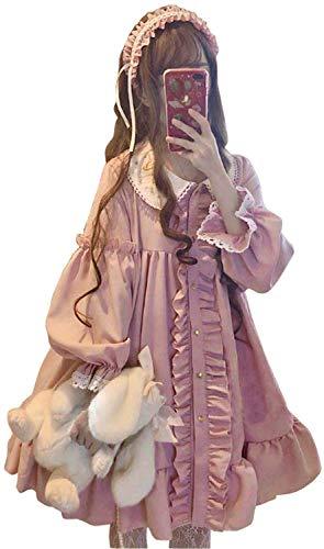[로리타의상] (Lady Oliver) 긴소매 핑크 원피스