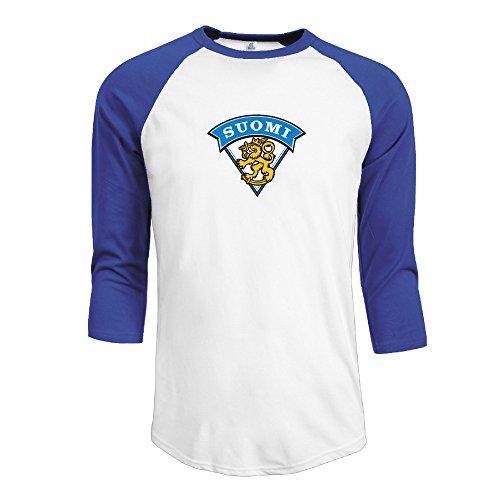 Mens Finland Men Raglan 3/4 Sleeve Baseball
