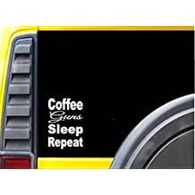 Coffee Gun Sleep K825 8 inch Sticker decal