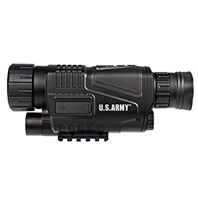 U.S. Army US-NVM405 Digital Night Vision Recording Monocular 5x40 (Black)