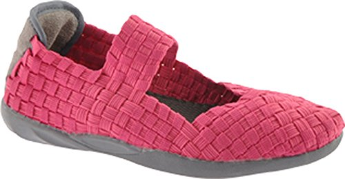 Bernie Mev Womens Snoezig Mary Jane Flat Hot Pink