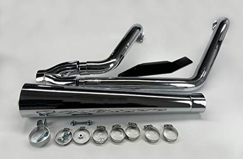Vance & Hines 2 Into 1 Pro Pipe HS Exhaust Chrome - Pro Pipe Hines