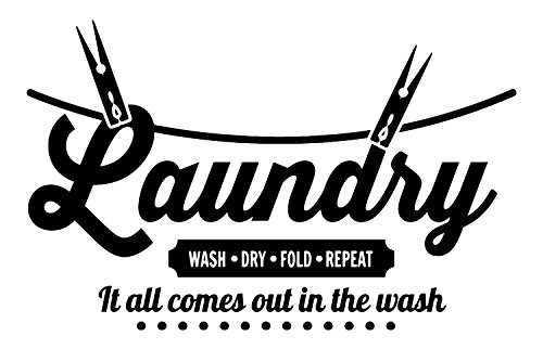 """Laundry Room Decor: """"It All Comes Out In the Wash"""" Vinyl Wal"""