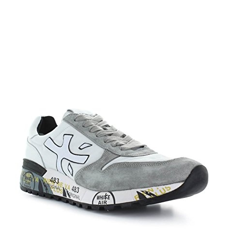 PREMIATA Men's MICK2822 White/Grey Fabric Sneakers outlet factory outlet pre order online perfect outlet locations for sale OiDrsarm