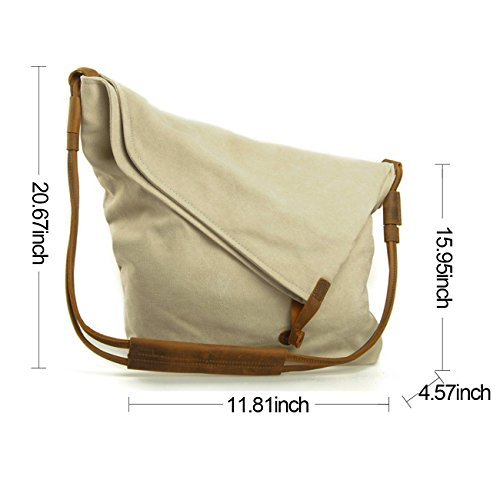 Retro Messenger Crossbody TM Bag Off Bag White Bag Fansela Hobo Satchel Canvas Oversized qSRYqx