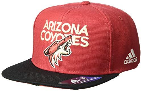 adidas NHL Arizona Coyotes Flat Brim Snapback Hat, One Size, Burgundy