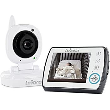 Levana Ayden 3.5inch Digital Video Baby Monitor with Night Vision Camera, Temperature Monitoring, Talk to Baby Two-way Intercom and Zoom