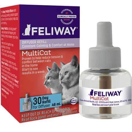 Feliway MultiCat Diffuser Refill (48 mL) | Constant Harmony & Calming Between Cats at Home by Feliway