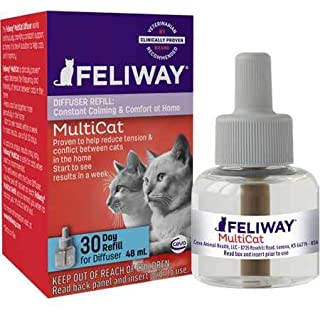 Feliway MultiCat Calming Diffuser Refill (1 pack, 48 ml)    Vet Recommended   Reduce Fighting and Conflict Among Cats