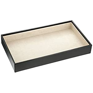 Wolf Designs 435002 Vault Series Deep Jewelry Tray, Black