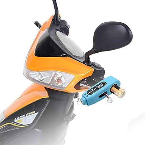 gr/ün Motorrad-Bremsschloss Motorrad-Lenkerhebel Gas-Diebstahlsicherungsgriff f/ür Motorroller Motorr/äder und Gel/ändefahrzeuge