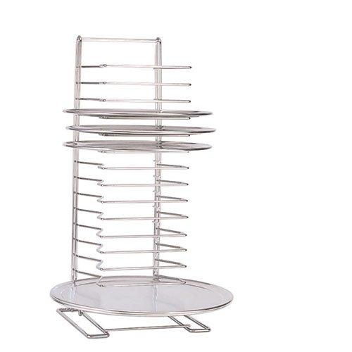 - Adcraft Pizza Tray Rack, Chrome-Plated Steel, 15 Shelf, 6 lb/Shelf, 27