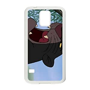 Samsung Galaxy S5 Cell Phone Case Covers White The Jungle Book Character Akela Phone Case Cover Customized DIY CZOIEQWMXN24756