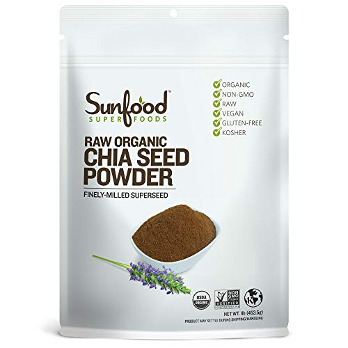 Sunfood Superfoods Chia Seed Powder - Raw Organic - Bulk Value - Ground Chia Seed Meal - Mild Nutty Flavor - Traditional Growth Techniques: Cold Milled - No Preservatives, Additives - 1 lb Bag (Best Dry Iron Box In India)