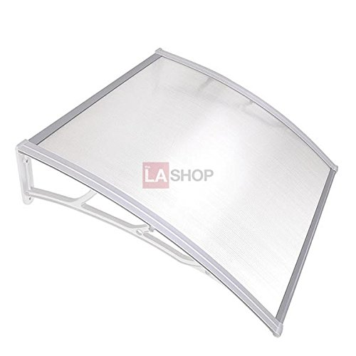 3ft Outdoor Clear PC Awning Canopy Window Door White by Jacoble