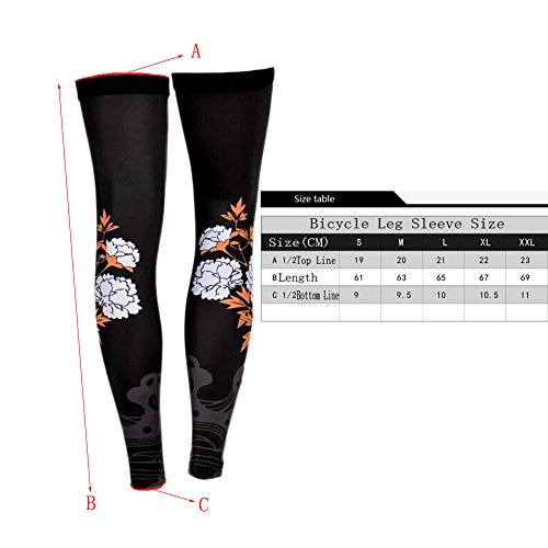 Panda Superstore Chinese Style Cycling Compression Leg Sleeves Cool Summer Leg Pro Leg Sleeve,XXL by Panda Superstore (Image #1)