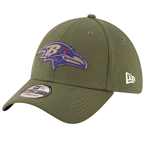 New Era Baltimore Ravens NFL 39THIRTY 2018 Sideline Salute to Service Hat]()
