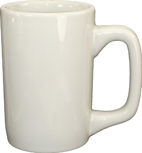 Solid 10 Oz Ceramic Mug - ITI 8207-01 36-Piece Kodiak Mug, 10-Ounce, American White