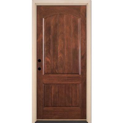 Amazon Feather River Doors 2 Panel Plank Chocolate Mahogany